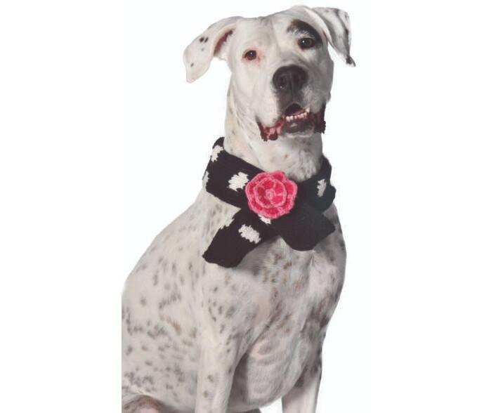 Chilly Dog Black Polka Dot Scarf | L