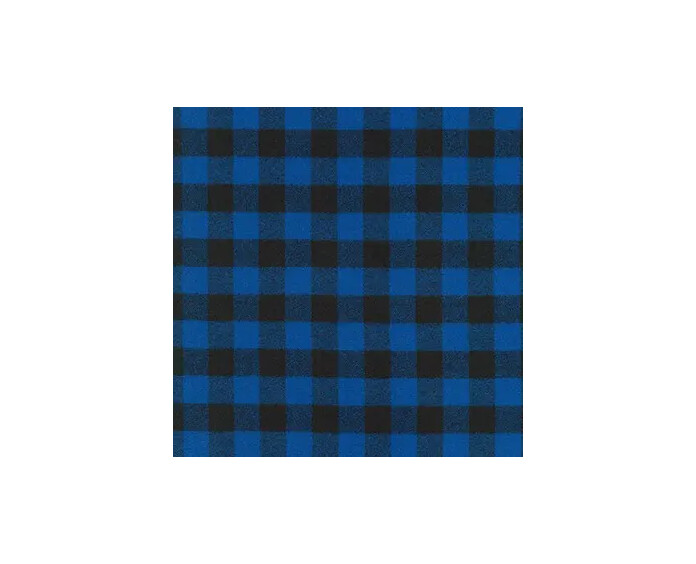 Mimi Green Buffalo Plaid Dog Collar Blue | M