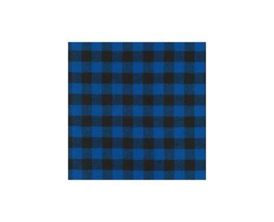 Mimi Green Buffalo Plaid Dog Collar Blue | M