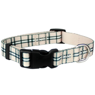 Parisian Pet Scottish Plaid Khaki Collar | M