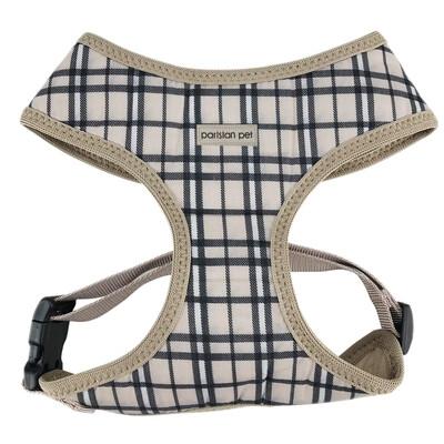 Parisian Pet Freedom Harness Plaid Khaki | XL