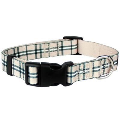 Parisian Pet Scottish Plaid Khaki Collar | L