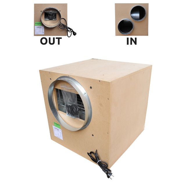 Звукоизолированный вытяжной вентилятор AirFan деревянный (производительность 2000 м3/час)