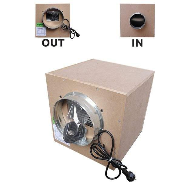 Звукоизолированный вытяжной вентилятор AirFan деревянный (производительность 550 м3/час)