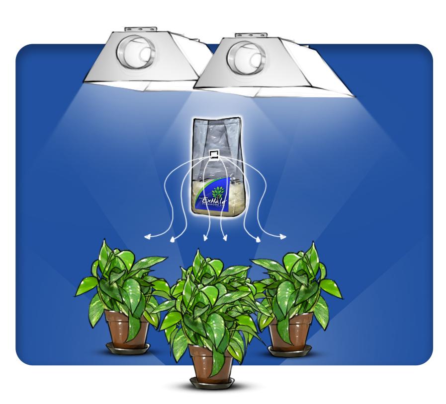 Природный генератор углекислого газа для растений ExHale HomeGrown Co2