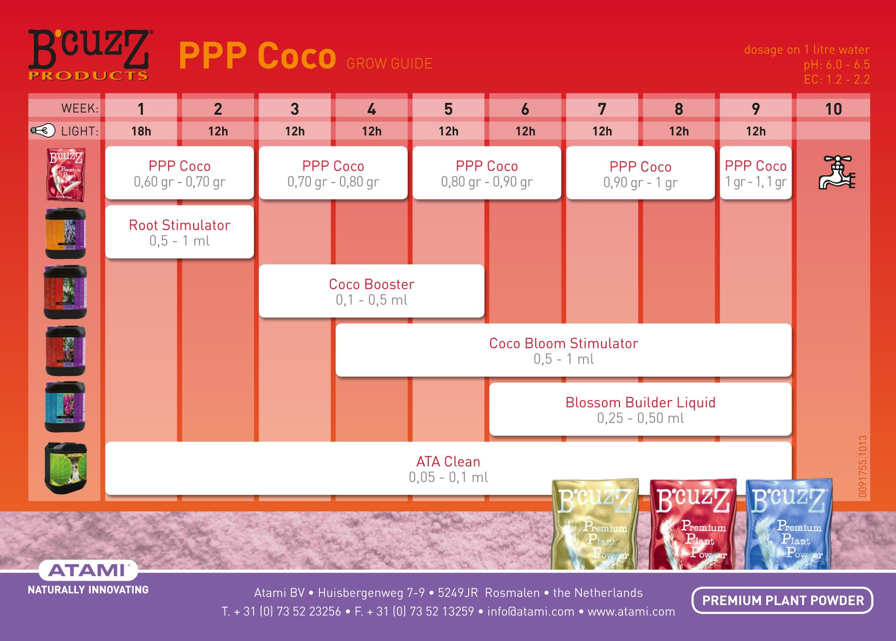 B'cuzz Premium Plant Powder Coco (сухое удобрение для выращивания в кокогрунте)