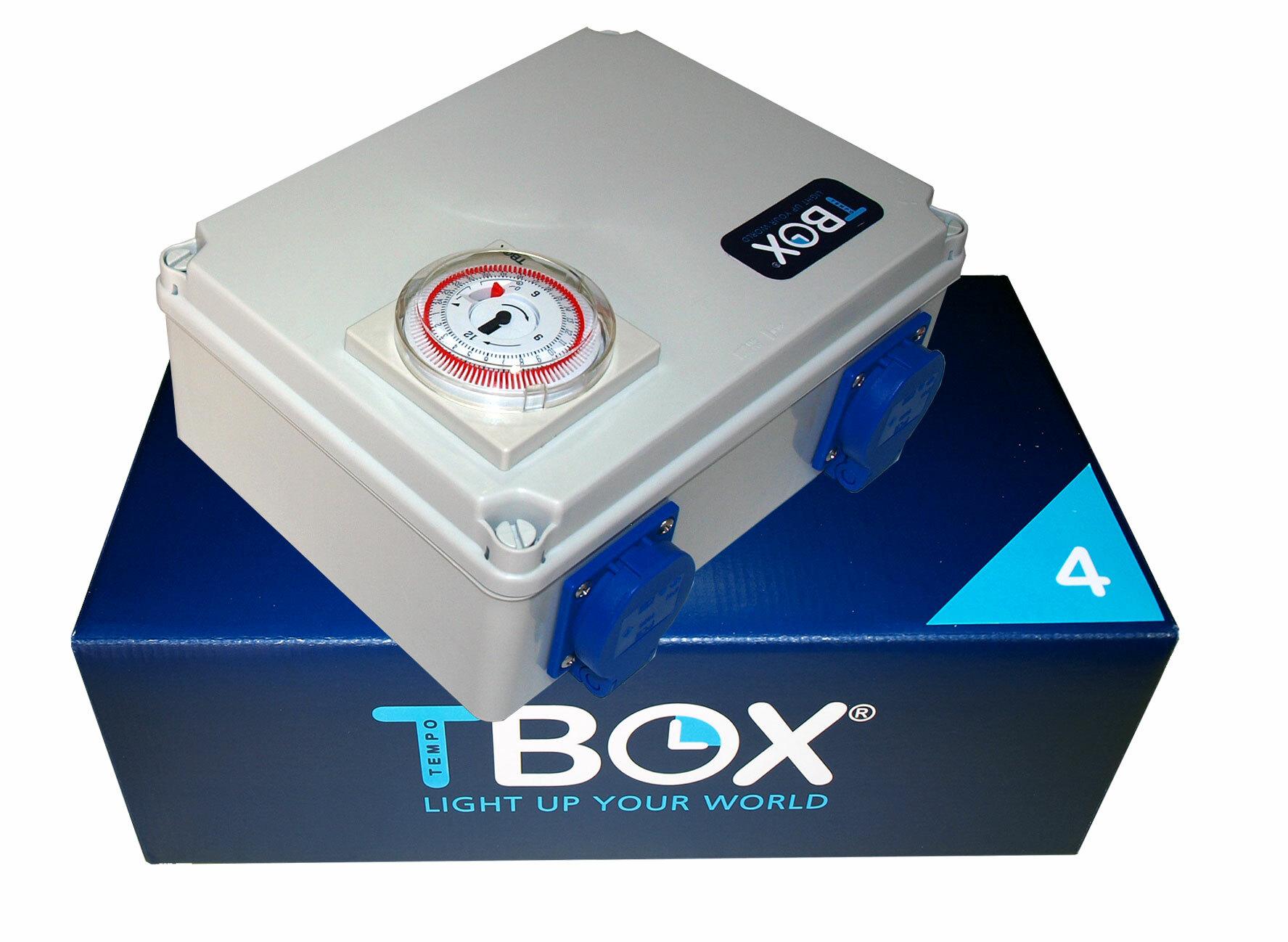 Таймер TBox 4 для подключения ламп в гроубоксах и теплицах (4x600W)
