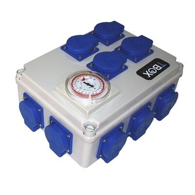 Таймер TBox 12 для подключения ламп в гроубоксах и теплицах (12x600W) 00503