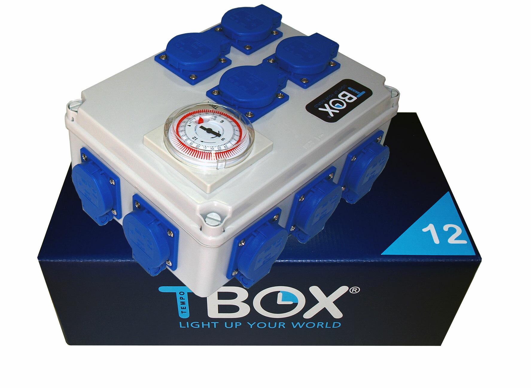 Таймер TBox 12 для подключения ламп в гроубоксах и теплицах (12x600W)