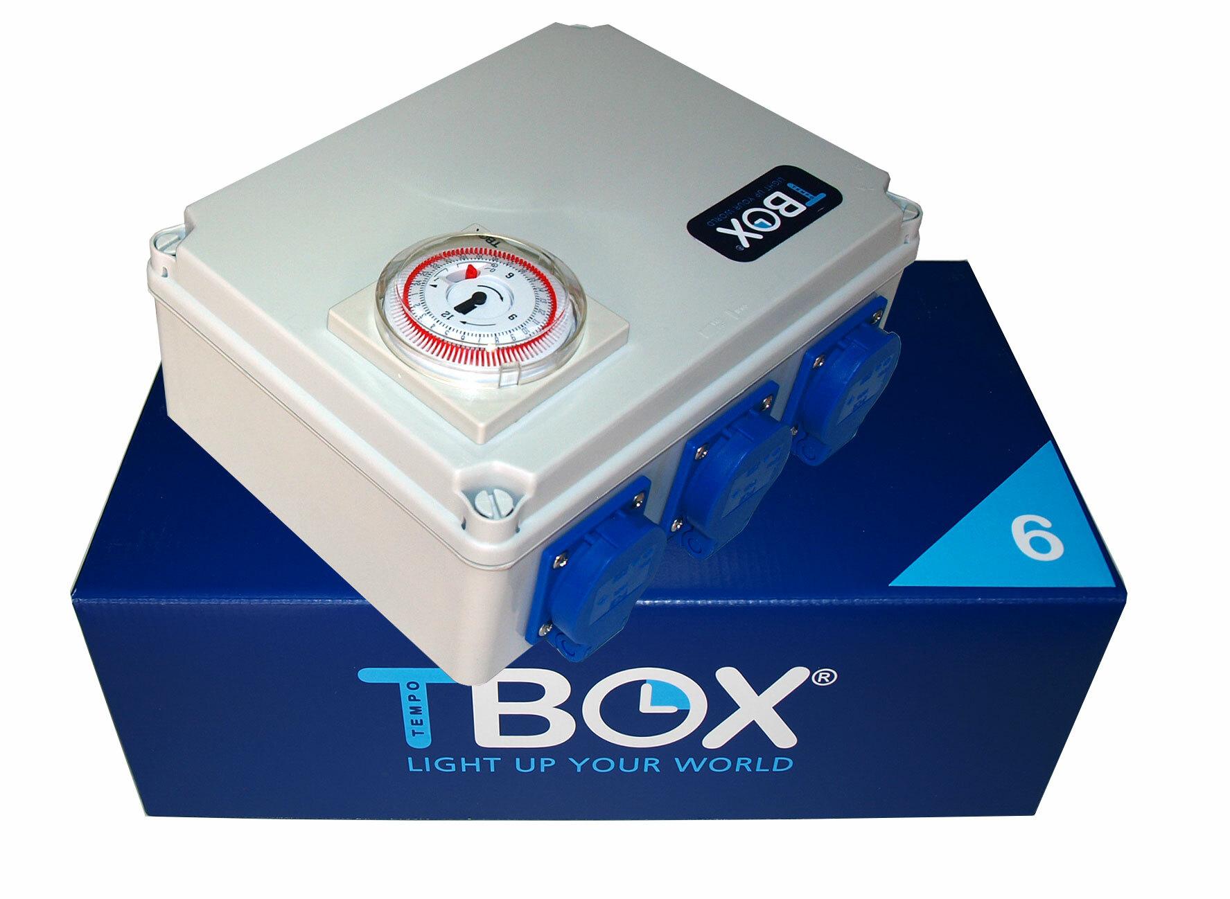 Таймер TBox 6 для подключения ламп в гроубоксах и теплицах (6x600W)