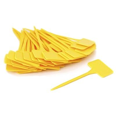Желтые колышки для обозначения сорта растения 01390