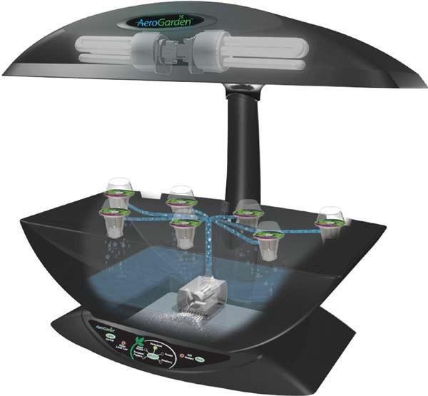 Компактная система аэропоники AeroGarden 7 для домашнего выращивания растений