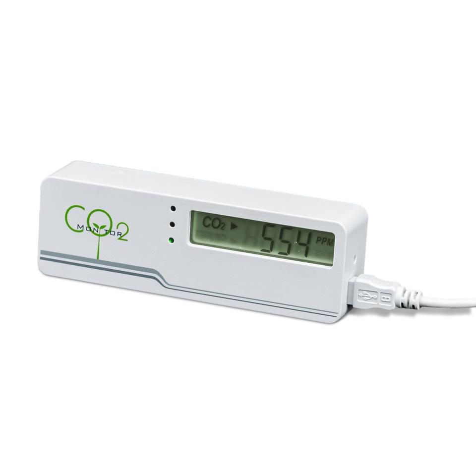 Маленький электронный измеритель уровня углекислого газа в гроубоксах и теплицах (Co2)