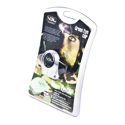 Лампа с зеленым светом для проверки растений в ночной период (крепится на кепку) 00595