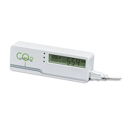 Маленький электронный измеритель уровня углекислого газа в гроубоксах и теплицах (Co2) 02501
