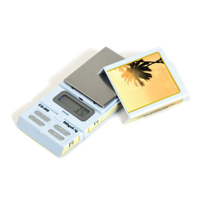 Электронные весы в виде пачки сигарет Havana (максимальный вес 500 грамм/шаг измерения 0.1 грамм) 00858