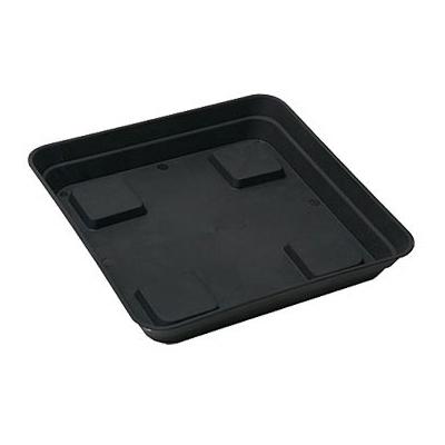 Поддон квадратный чёрный 18x18 см. 01506