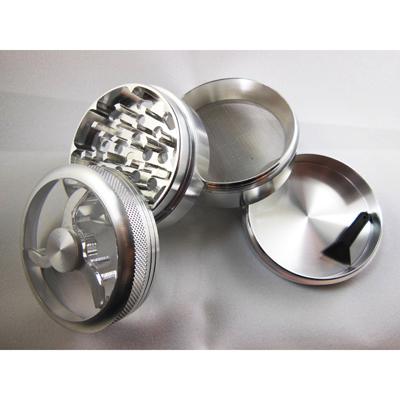 Гриндер металлический для марихуаны с магнитным замком и прозрачным верхом (62,5 мм.) 00334
