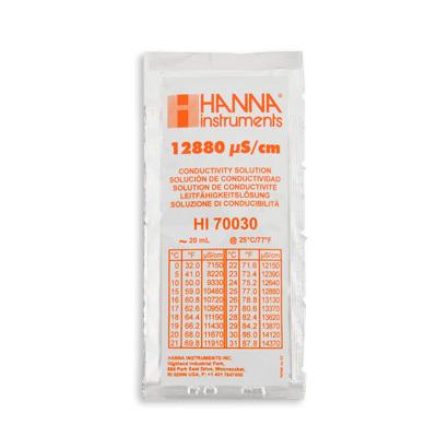 Калибровочный раствор EC 12.88 от Hanna Instruments (пакетик 20 миллилитров) 00168