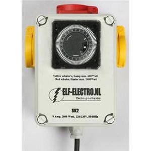 Таймер-контроллер для подключения ламп и других приборов в гроубоксе или теплице (2x600W) 00504