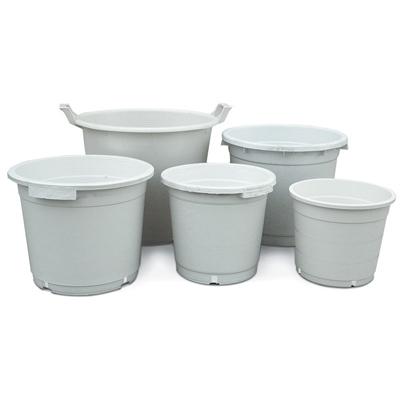 Белый круглый горшок для выращивания растений 35x35 см. (27 литров) 00725