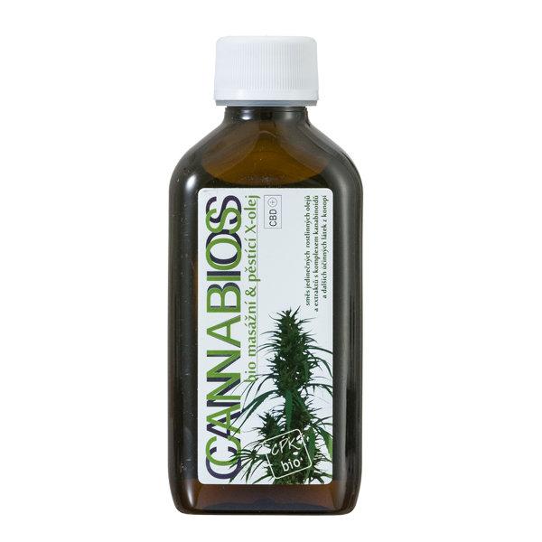 Cannabios X-oil Neutral - масло для массажа на основе каннабиса с добавлением лимона