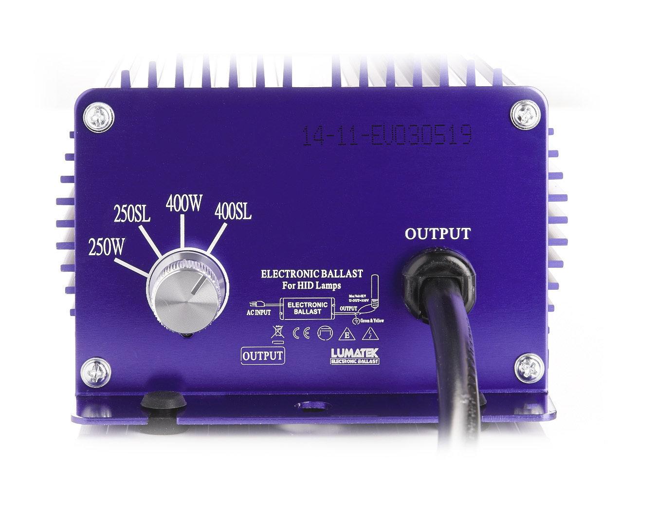 Балласт Lumatek 400-250W для HPS (ДНАТ) и MH (МГЛ) ламп
