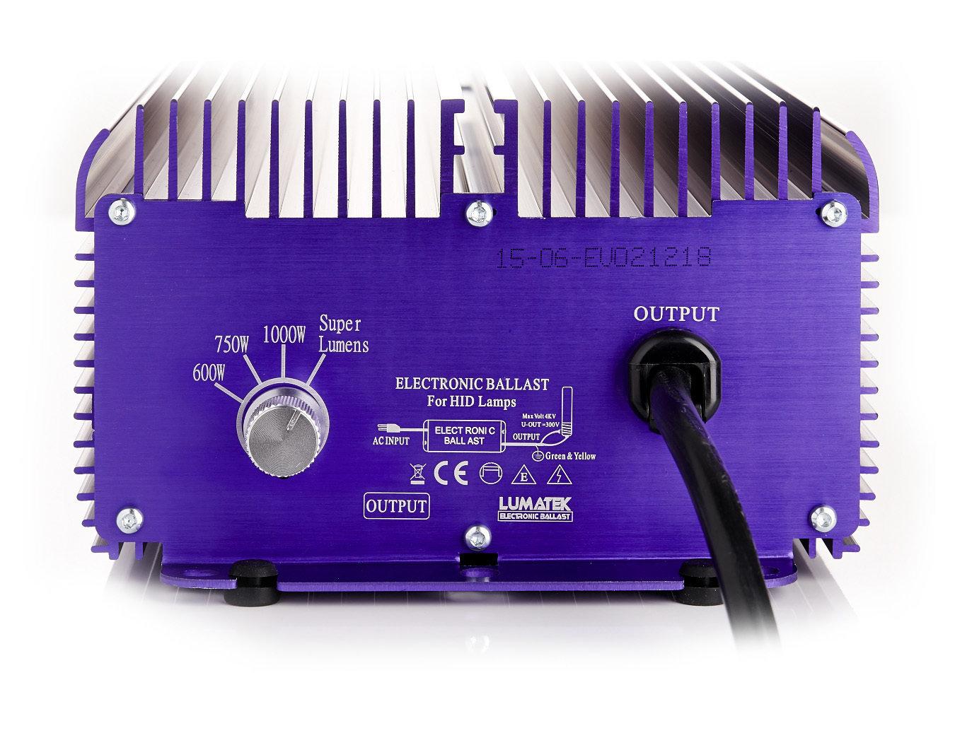 Балласт Lumatek 1000-600W для HPS (ДНАТ) и MH (МГЛ) ламп