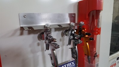 Stainless Steel Paint Gun Holder (5 gun Sata-PPS Adapter)