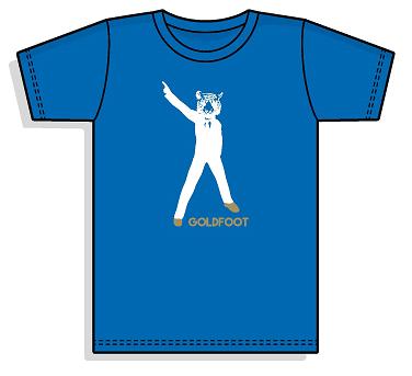Goldfoot T-Shirt - (Blue)