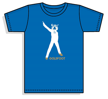 Goldfoot T-Shirt - (Blue)