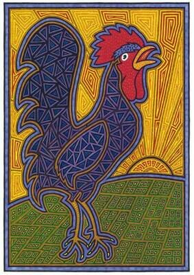 Rooster and Rising Sun
