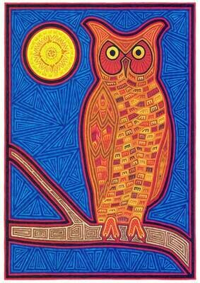 Owl with Harvest Moon
