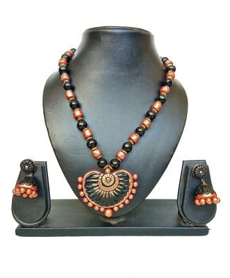 Terracotta Jewellery Necklace Set - NH127