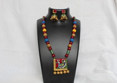 Terracotta Jewellery Necklace Set -NH230