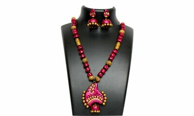 Terracotta Jewellery Necklace Set - NH250