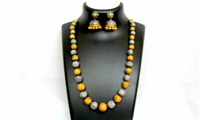 Terracotta Jewellery Necklace Set - NH240