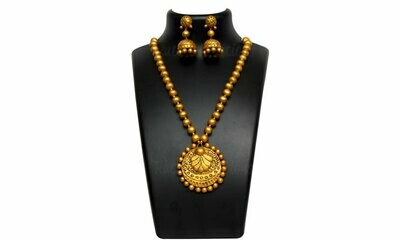 Terracotta Jewellery Necklace Set - NH260