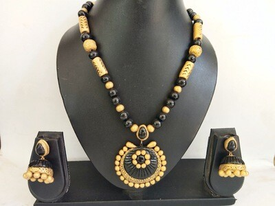 Terracotta Jewellery Necklace Set - NH300