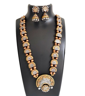 Terracotta Jewellery Necklace Set - NH400