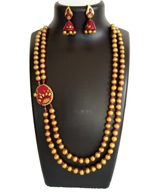 Terracotta Jewellery Necklace Set - NH290