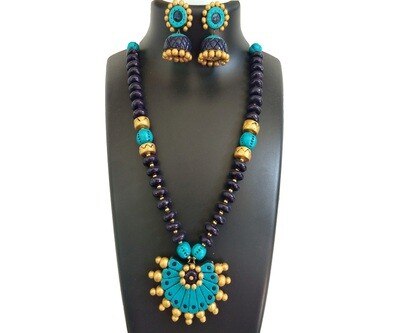 Terracotta Jewellery Necklace Set - NH310