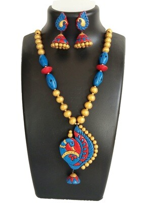 Terracotta Jewellery Necklace Set - NH350