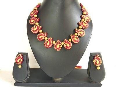 Terracotta Jewellery Necklace Set - NL220