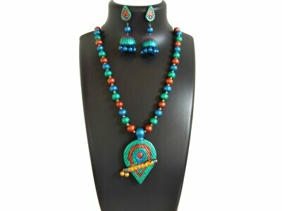 Terracotta Jewellery Necklace Set - NH420