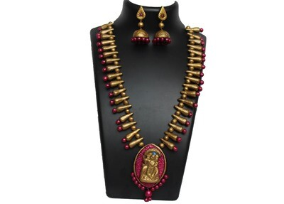 Terracotta Jewellery Necklace Set - NH280