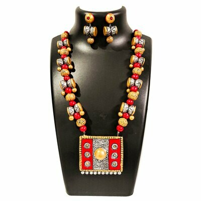 Terracotta Jewellery Necklace Set - NH200-RS