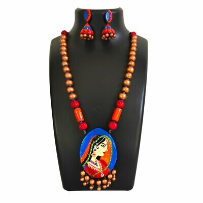 Terracotta Jewellery Necklace Set - NH460