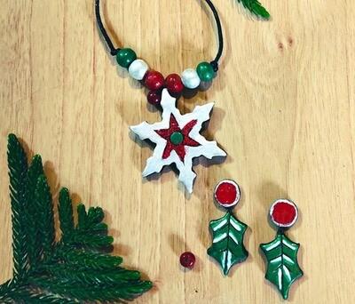 Terracotta Jewellery Necklace Set - NL360