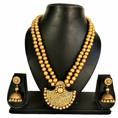Terracotta Jewellery Necklace Set - NH500